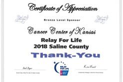 2018 Saline County Cert_Bronze Sponsor